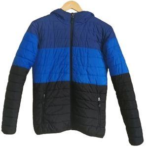 MCKINLEY Blue & Black Color Block Puffer Jacket